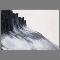 Steenlawine_II_100x70cm_acryl-zand_op_linnen