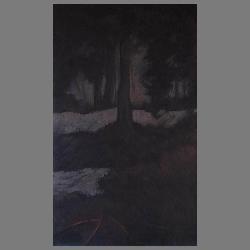 65-100 cm - Grafiet/houtskool/linnen