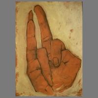 Hand_1-100-85cm-acryl_houtskool_linnen