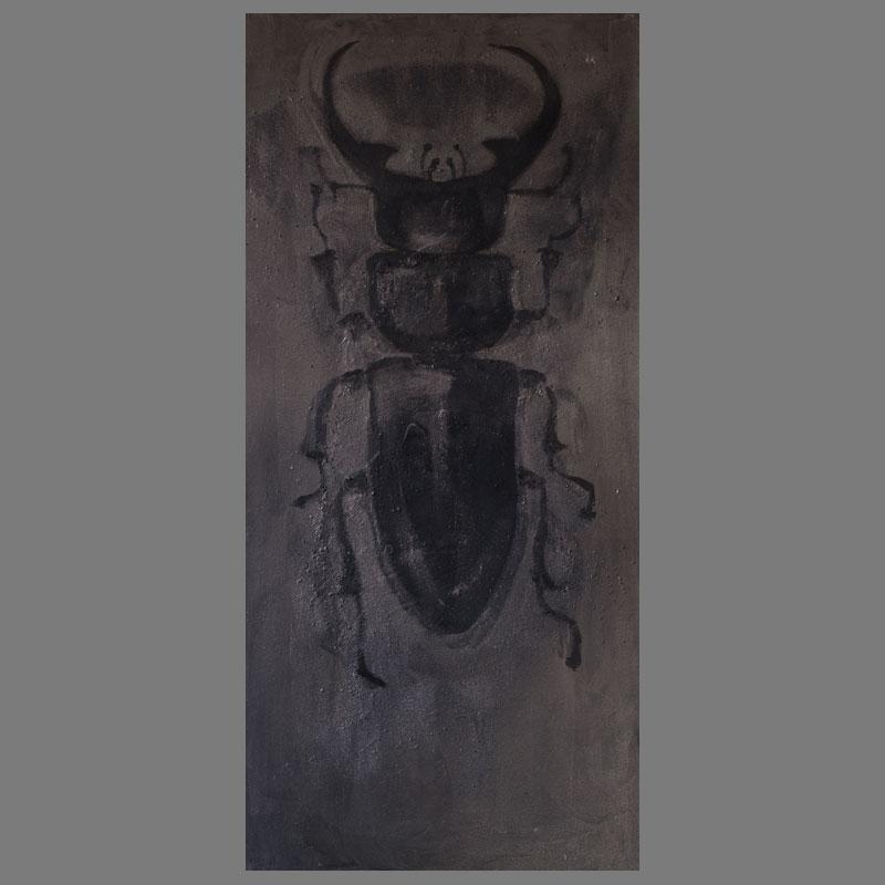 50-105 cm - zand/grafietpoeder/ olieverf/linnen
