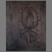 80-100 cm - zand/grafietpoeder/ olieverf/linnen